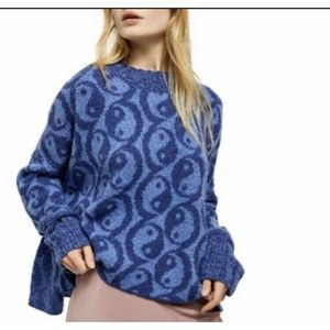 Free People Yin Yang Oversized Pullover Sweater